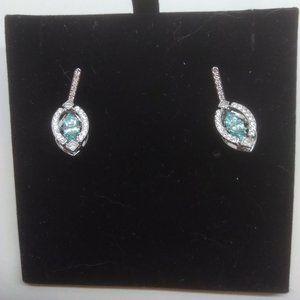 Swarovski New Blue Framed Crystal Earrings